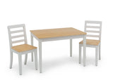 Delta Children White & Natural (196) Gateway Table & 2 Chair Set, Right Silo View