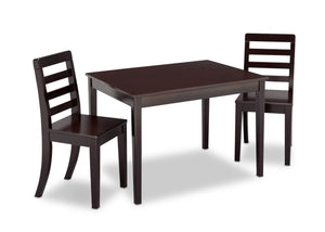 Delta Children Dark Chocolate (207) Gateway Table & 2 Chair Set, Right View b3b