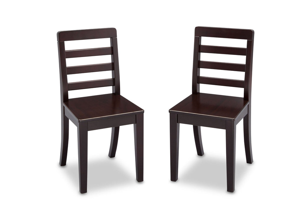 Delta Children Dark Chocolate (207) Gateway 2 Chairs, Front View b4b