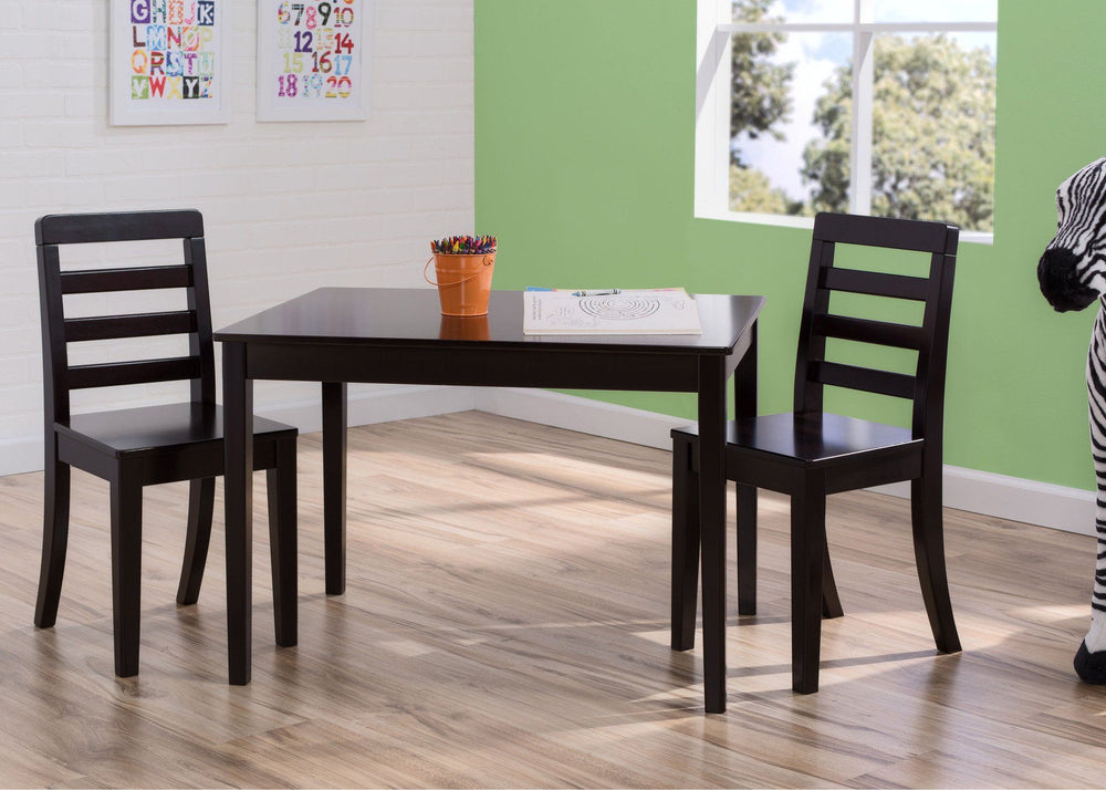 Delta Children Dark Chocolate (207) Gateway Table & 2 Chair Set, Hangtag b2b