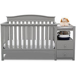 Birkley Convertible Crib N Changer (Grey)