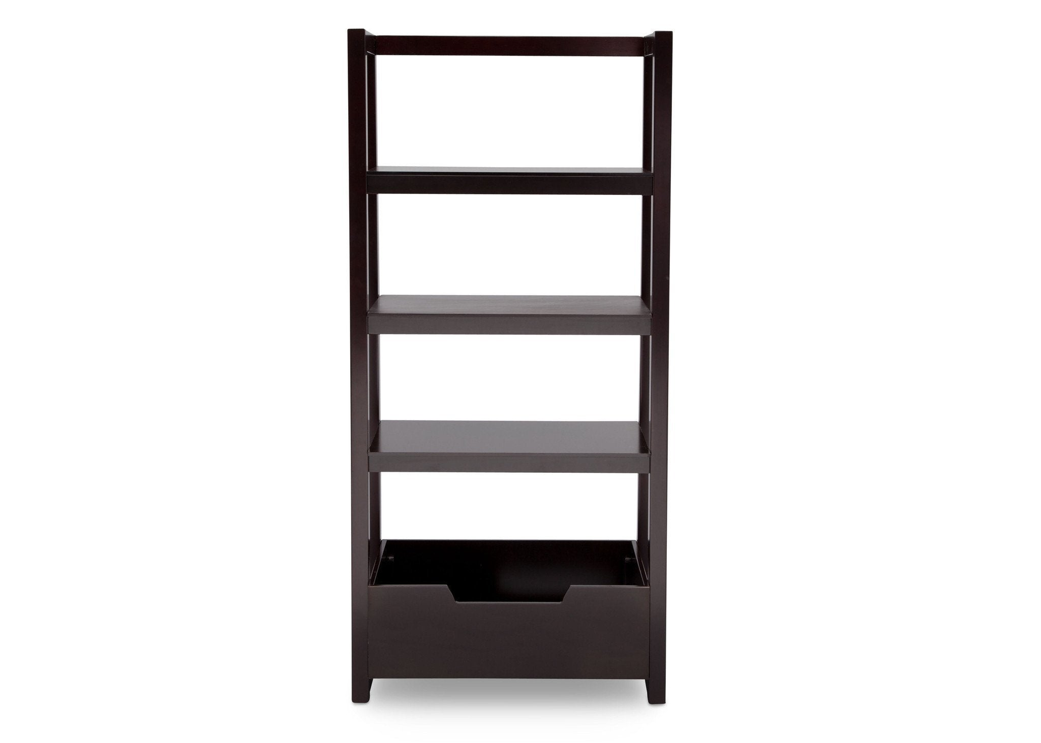 Delta Children Dark Chocolate (207) Gateway Ladder Shelf, Front View b4b