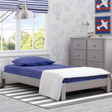 Delta Children Grey (026) Platform Twin Bed, Room View a1a