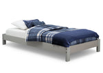 Delta Children Grey (026) Platform Twin Bed, Side View a2a