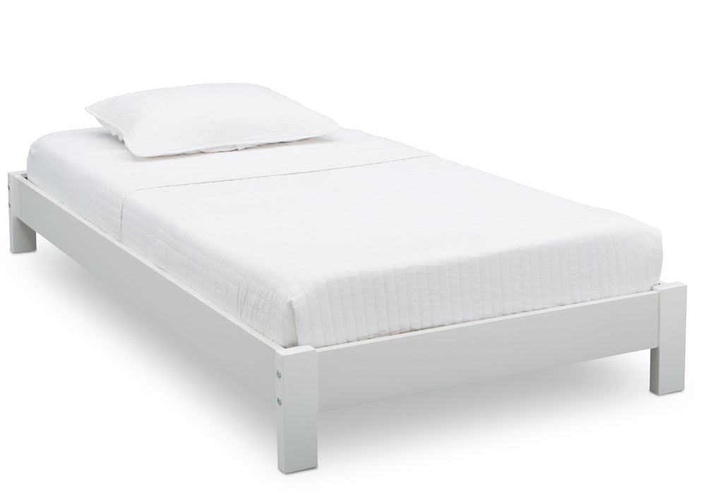Delta Children Bianca (130) Platform Twin Bed, Side View b2b