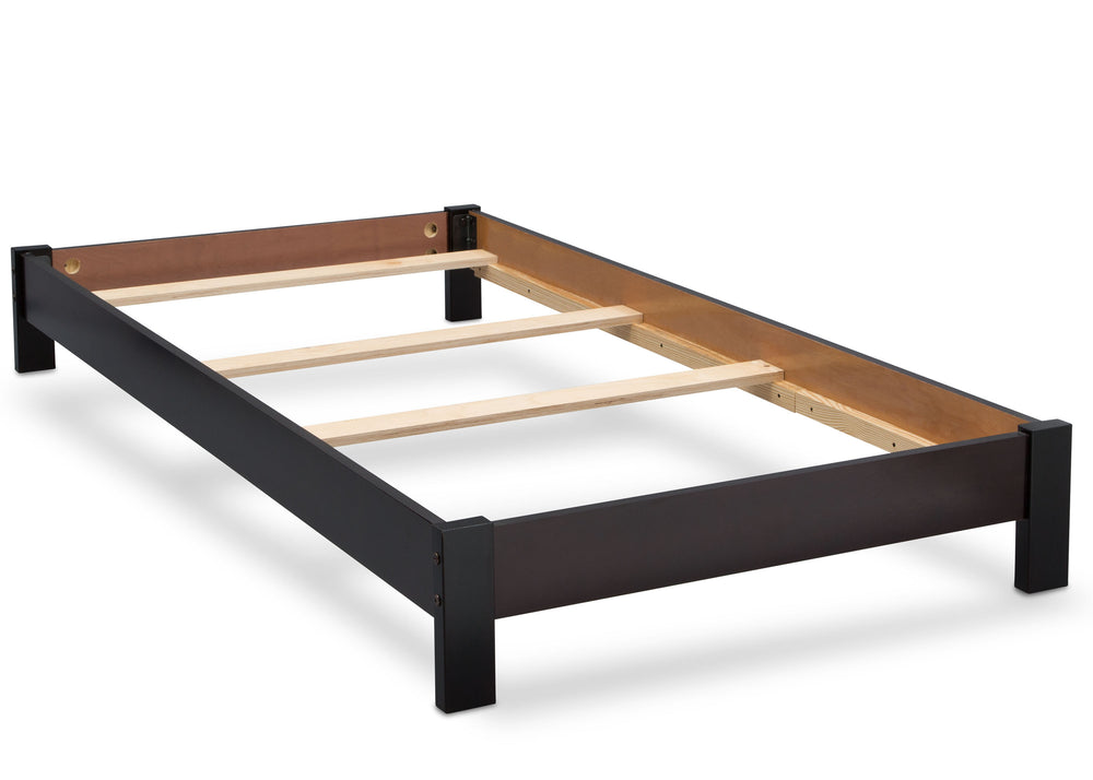 Delta Children Black Espresso (907) Platform Twin Bed with, Bed Frame c4c