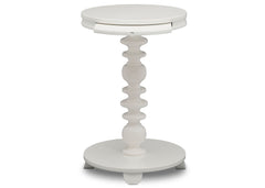 Delta Children Bianca White (130) Emery End/Side Table (531460), Front Silo, b4b