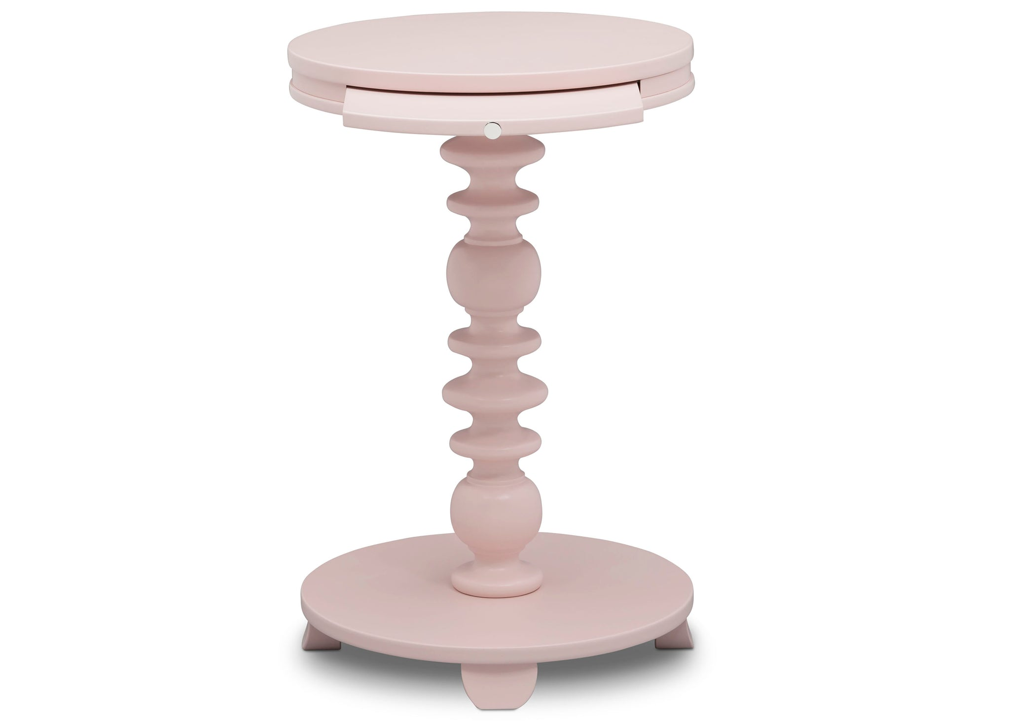 Delta Children Lotus Pink (936) Emery End/Side Table (531460), Front Silo, e4e