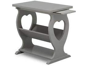 Delta Children Grey (026) Canton End/Side Table (531430), Right Silo w Tray, a4a