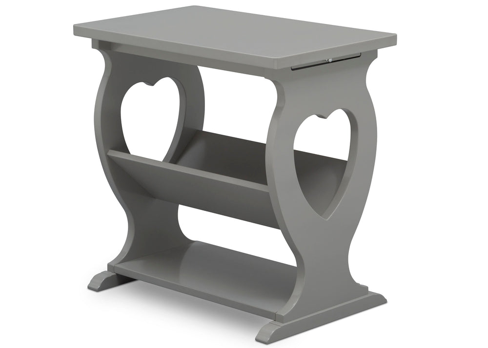 Delta Children Grey (026) Canton End/Side Table (531430), Right Silo, a3a