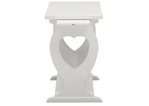 Delta Children Bianca White (130) Canton End/Side Table (531430), Side Profile, b5b