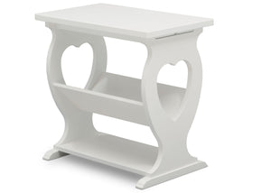 Delta Children Bianca White (130) Canton End/Side Table (531430), Right Silo, b3b