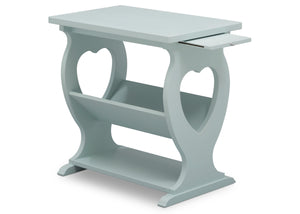 Delta Children Misty Blue (1330) Canton End/Side Table (531430), Right Silo w Tray, d4d