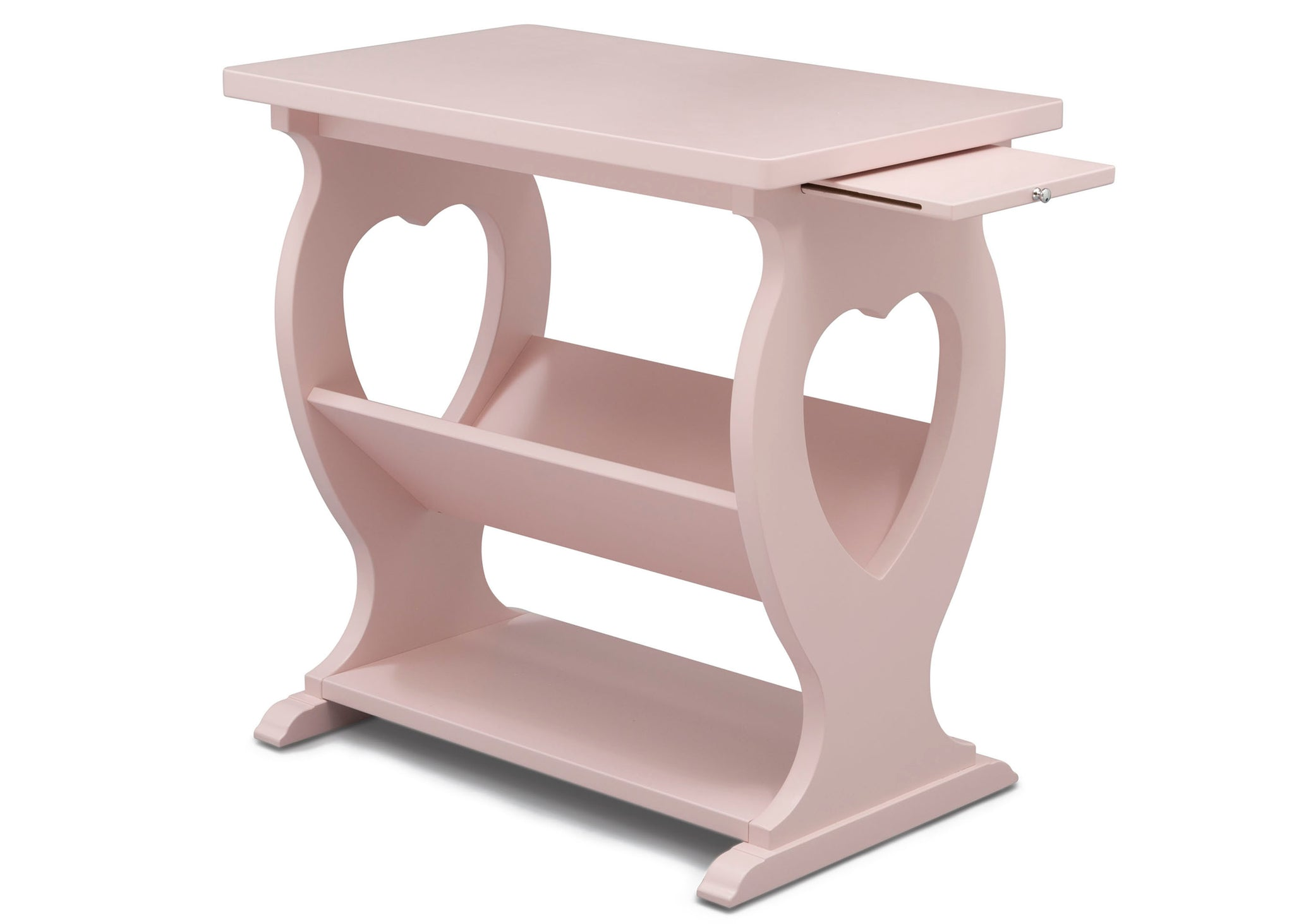 Delta Children Lotus Pink (936) Canton End/Side Table (531430), Right Silo w Tray, e4e