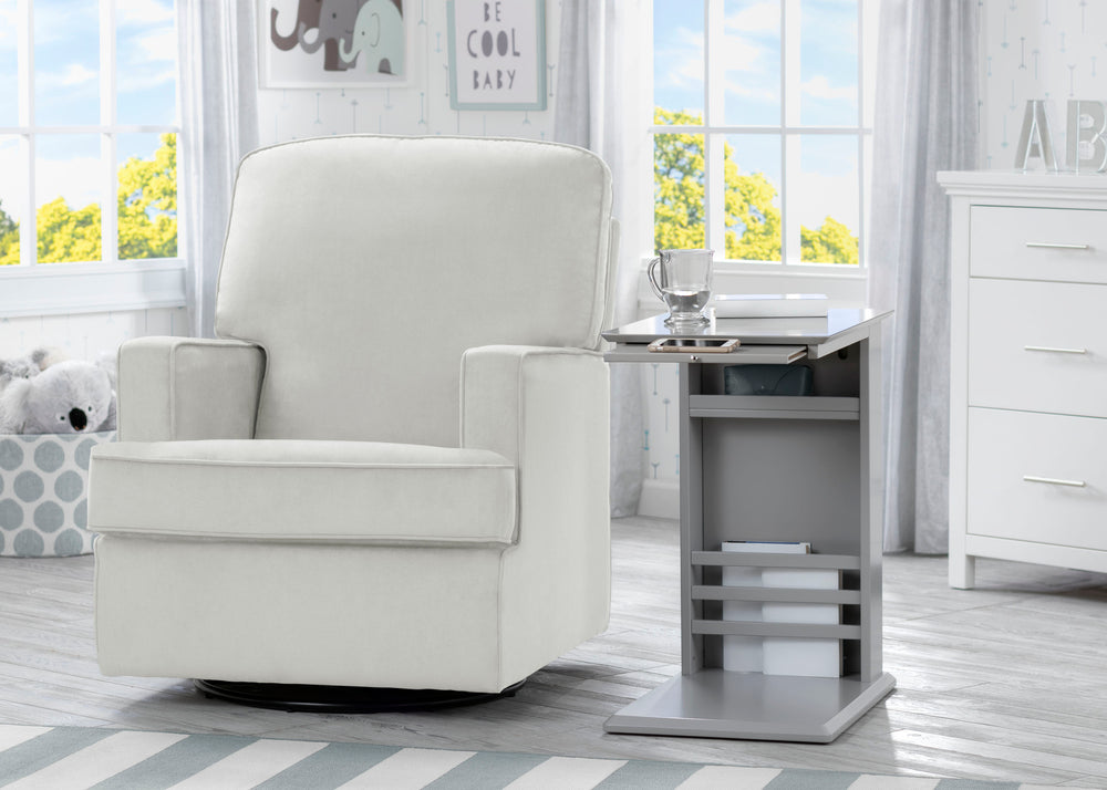 Delta Children Grey (026) Nolan End/Side Table (531460), End Table Room Shot, a1a