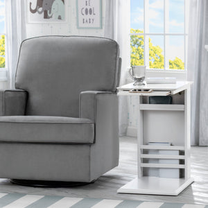 Delta Children Bianca White (130) Nolan End/Side Table (531460), End Table Room Shot, b1b