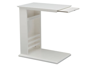Delta Children Bianca White (130) Nolan End/Side Table (531460), Right Silo, b4b