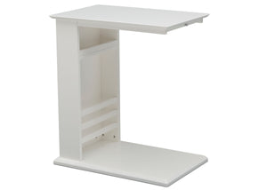 Delta Children Bianca White (130) Nolan End/Side Table (531460), Right Silo, b3b