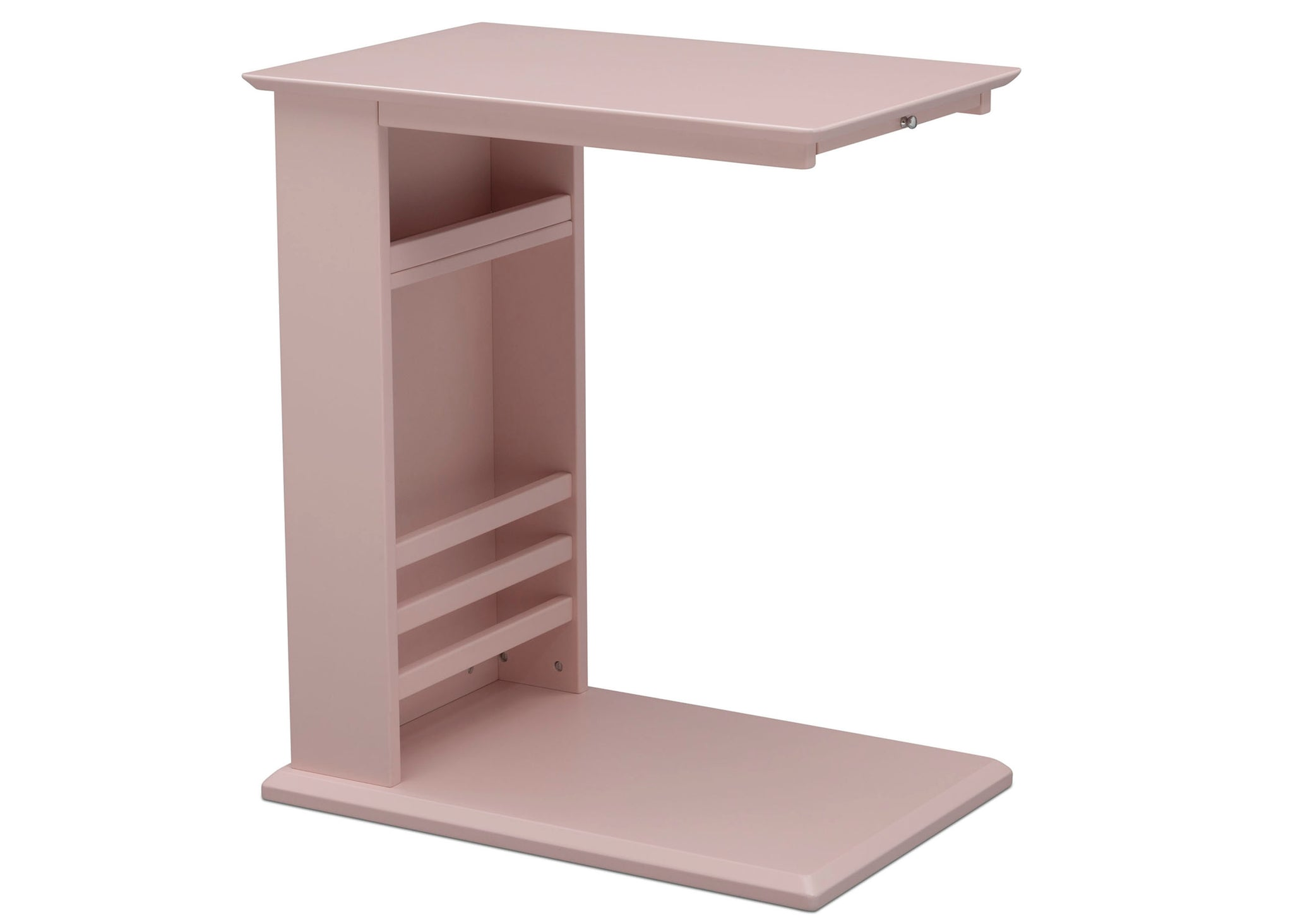 Delta Children Lotus Pink (936) Nolan End/Side Table (531460), Right Silo, e3e