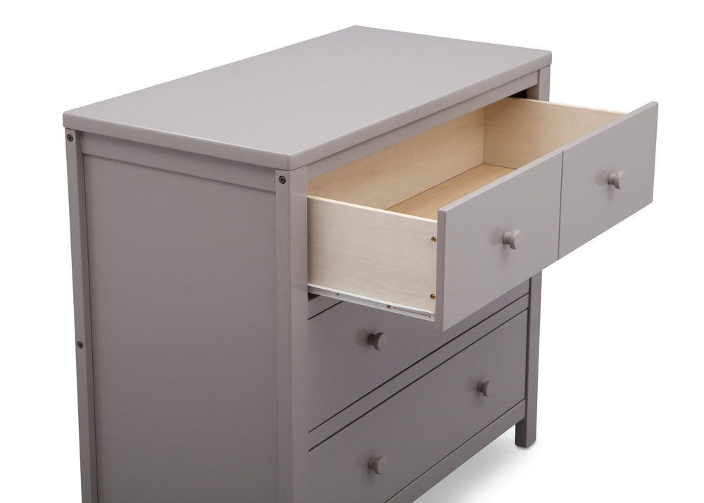 Delta Children Grey (026) 3 Drawer Dresser, detail view, a4a