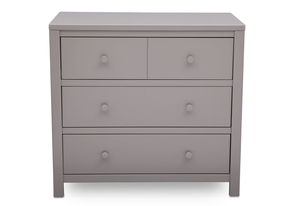 Delta Children Grey (026) 3 Drawer Dresser, front view, a2a