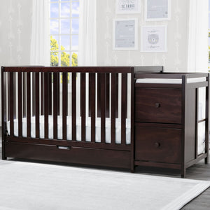 Luna Convertible Crib N Changer with Under Drawer