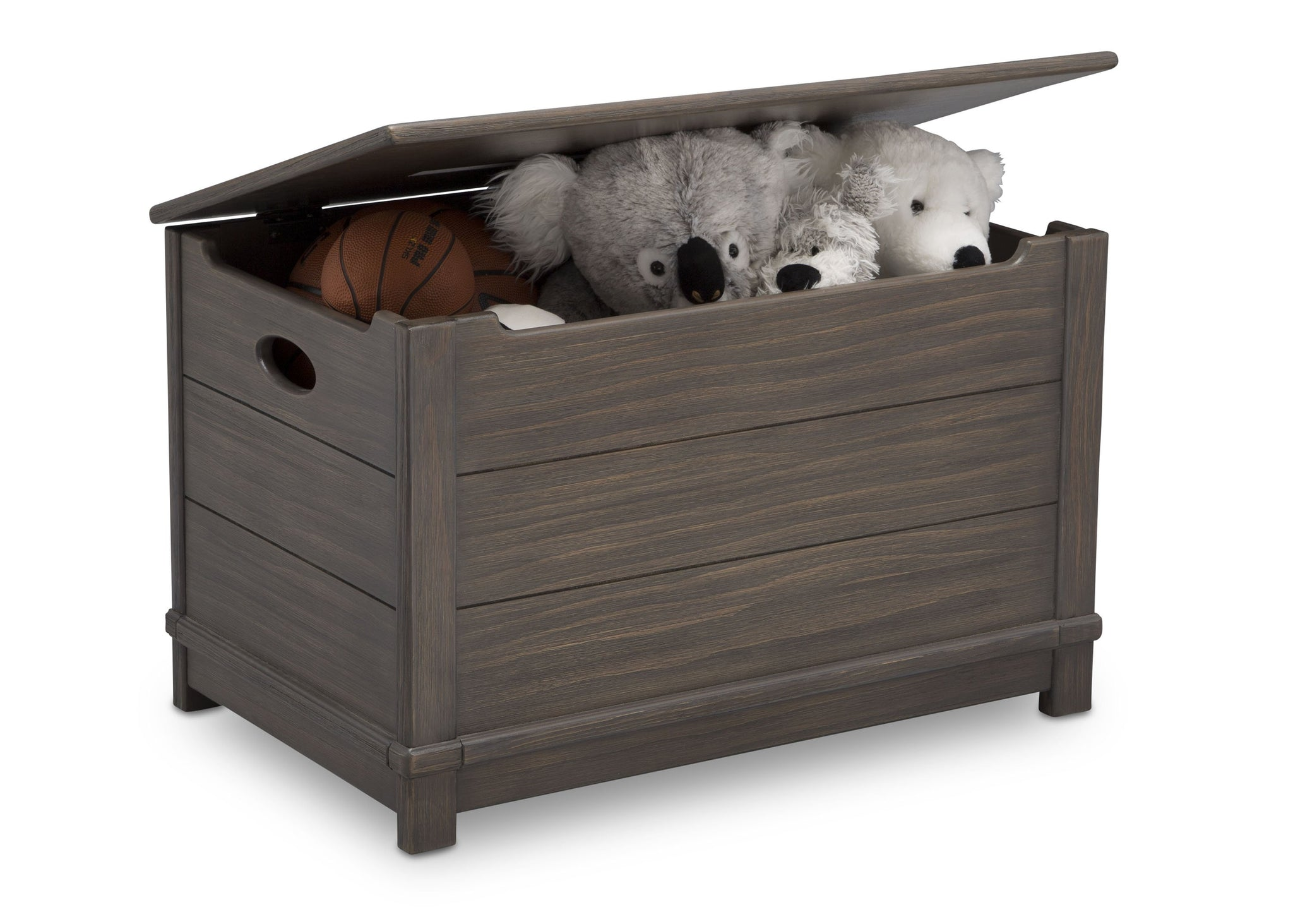 Delta Children Rustic Grey (084)  Monterey Farmhouse Hope Chest Toy Box (536450), w Props, a4a
