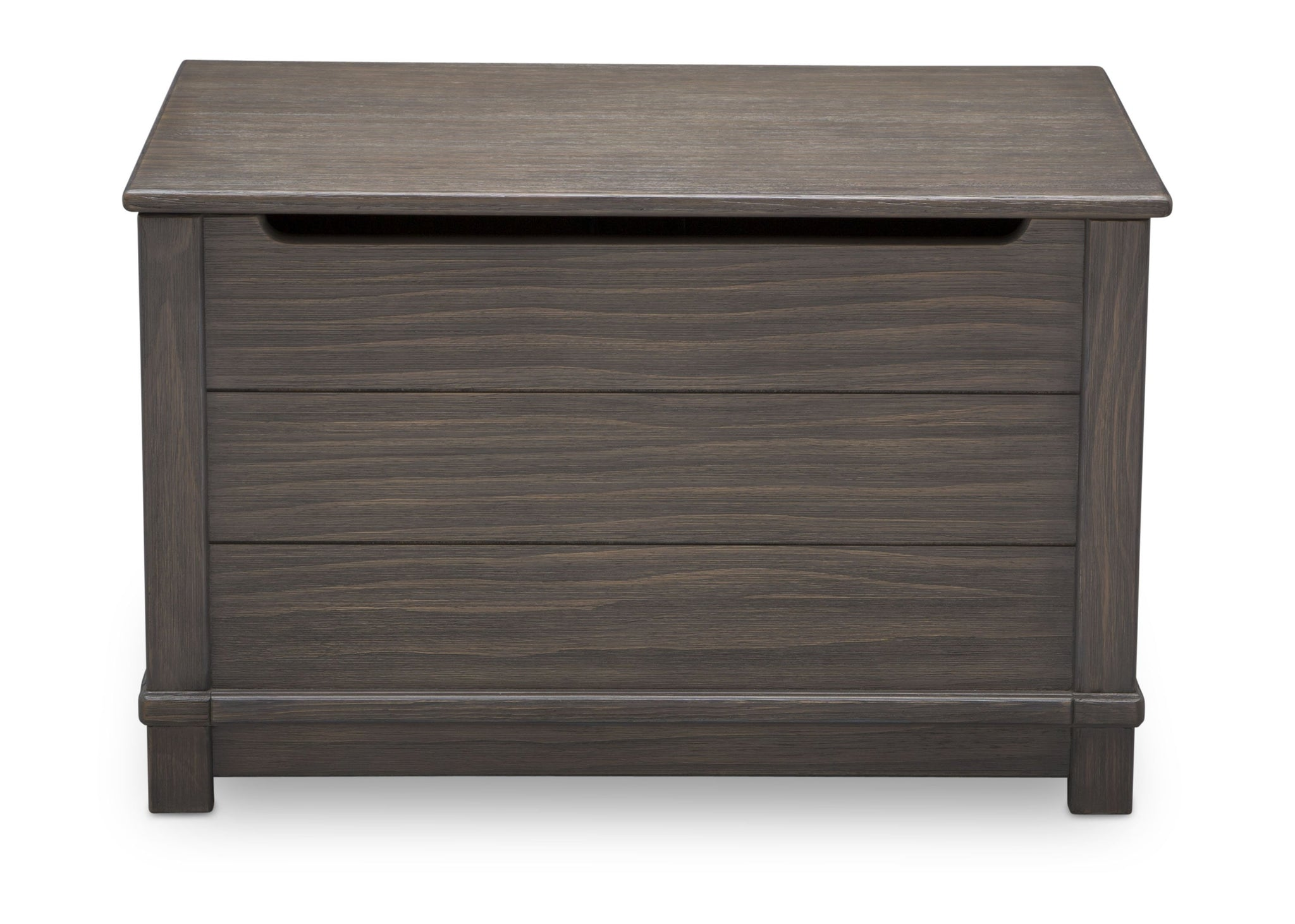 Delta Children Rustic Grey (084)  Monterey Farmhouse Hope Chest Toy Box (536450), Front View, a3a