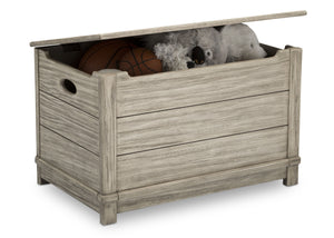 Delta Children Rustic White (119)  Monterey Farmhouse Hope Chest Toy Box (536450), w Props, b4b