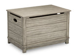 Delta Children Rustic White (119)  Monterey Farmhouse Hope Chest Toy Box (536450), Right View, b2b