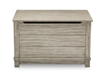 Delta Children Rustic White (119)  Monterey Farmhouse Hope Chest Toy Box (536450), Front View, b3b