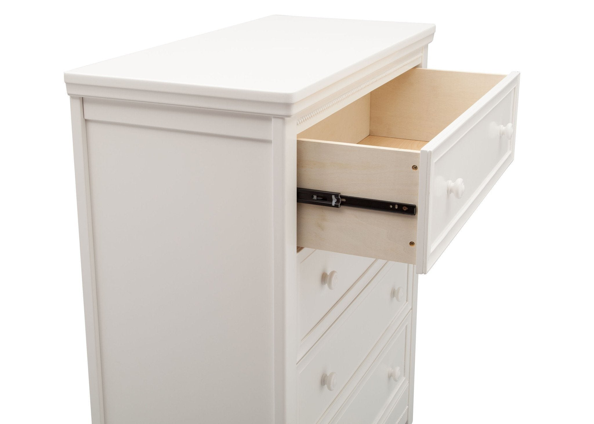 Delta Children White Ambiance (108) Lindsey 4 Drawer Chest, Detail View, a4a