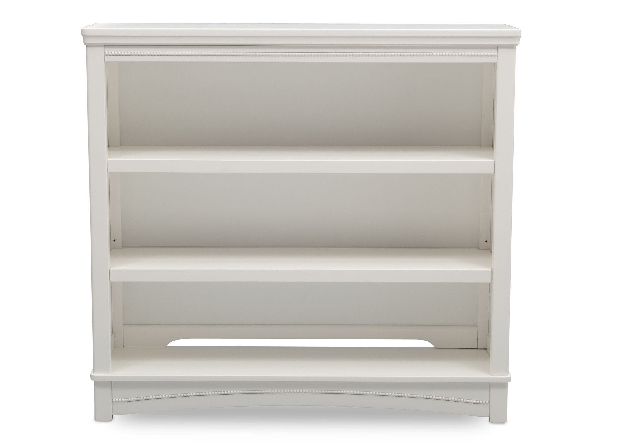 Delta Children White Ambiance (108) Lindsey Bookcase/Hutch, Front View, a1a