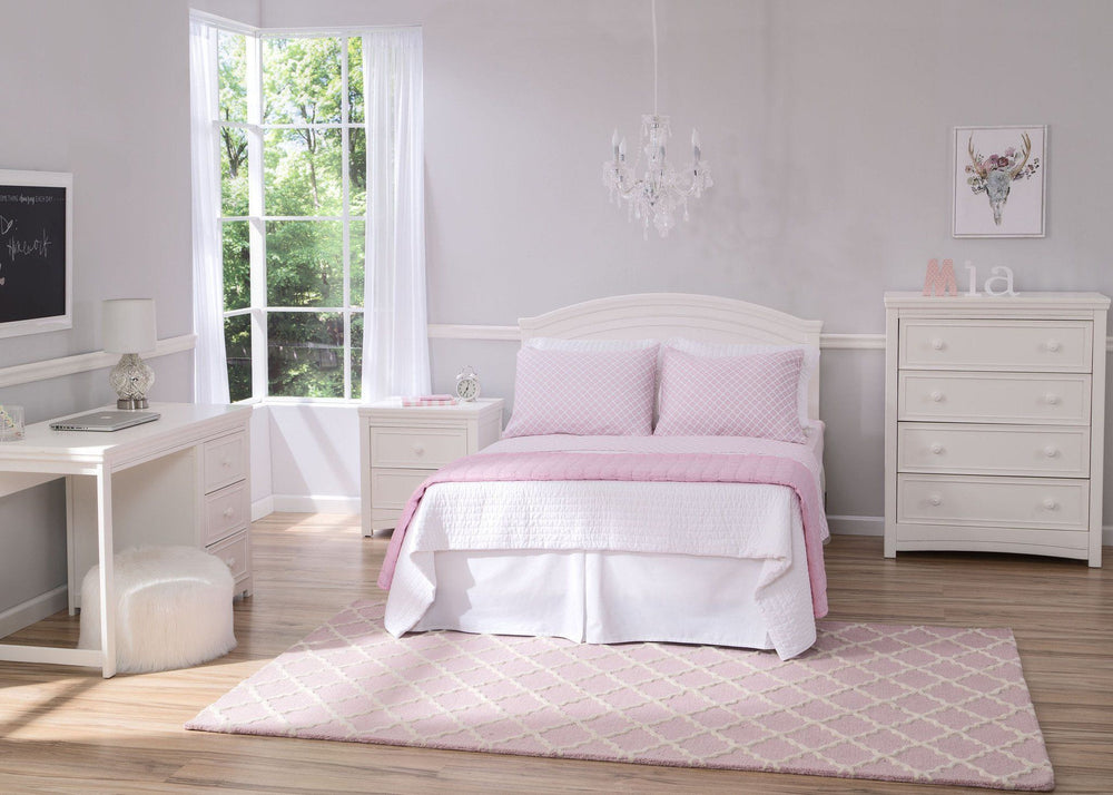 Delta Children White Ambiance (108) Lindsey Full Size Headboard, Room View, a1a