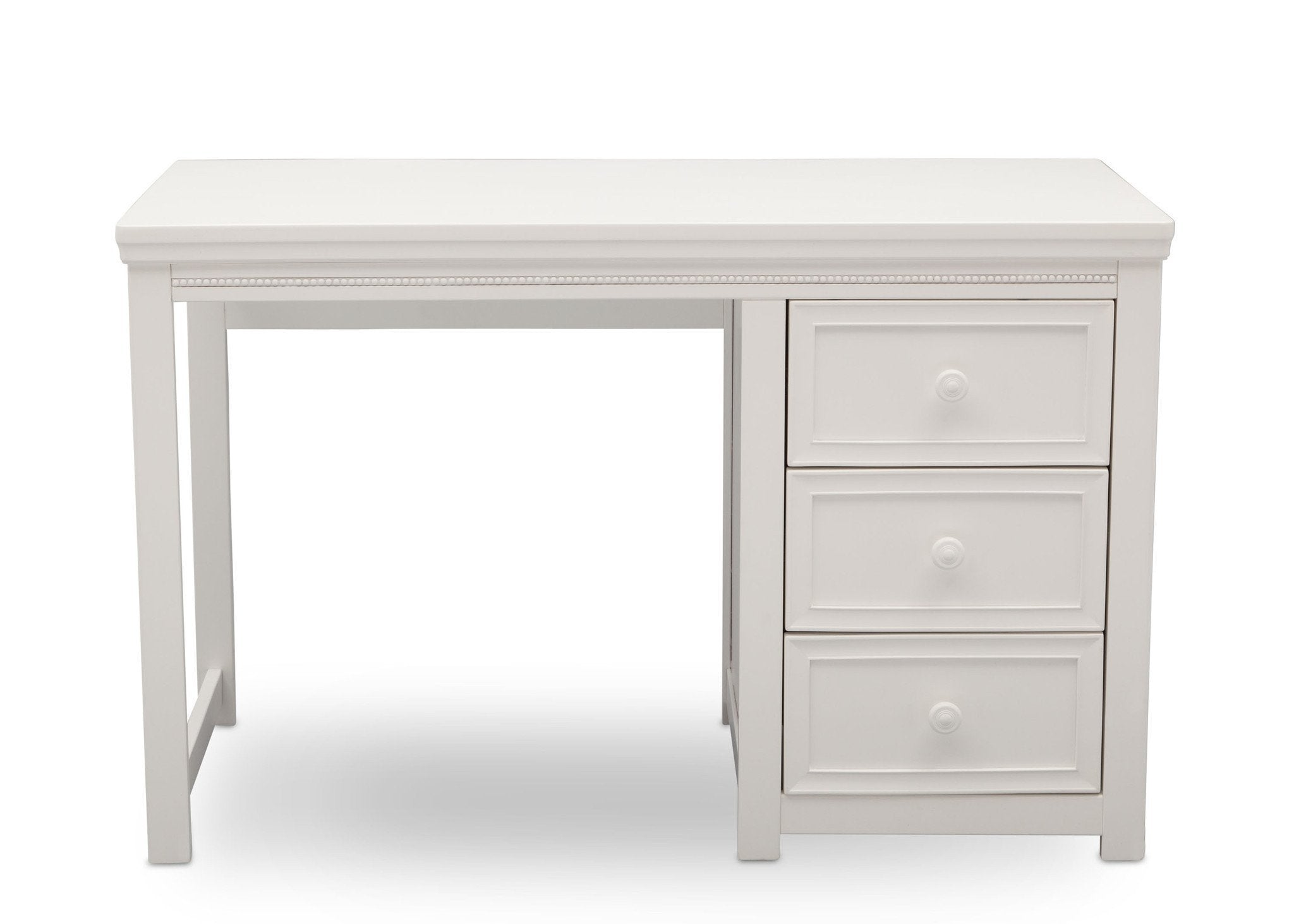 Delta Children White Ambiance (108) Lindsey Desk, Front View, a2a