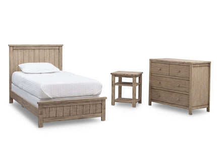 Delta Children Rustic Driftwood (112) Farmhouse 3-Piece Twin Room-in-a-Box, b3b