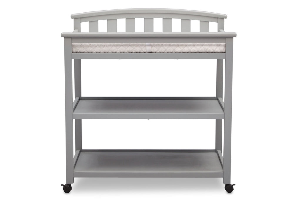 Delta Children Grey (026) Freedom Changing Table Front View a2a