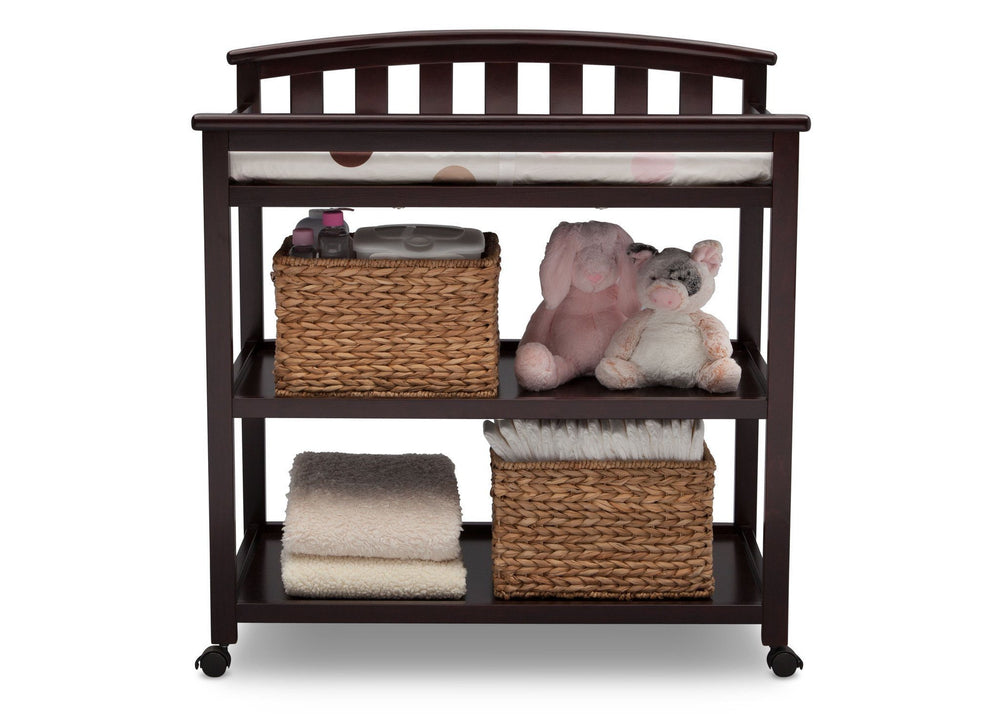 Delta Children Dark Chocolate (207) Freedom Changing Table Front View c2c