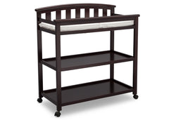 Delta Children Dark Chocolate (207) Freedom Changing Table Side View c3c