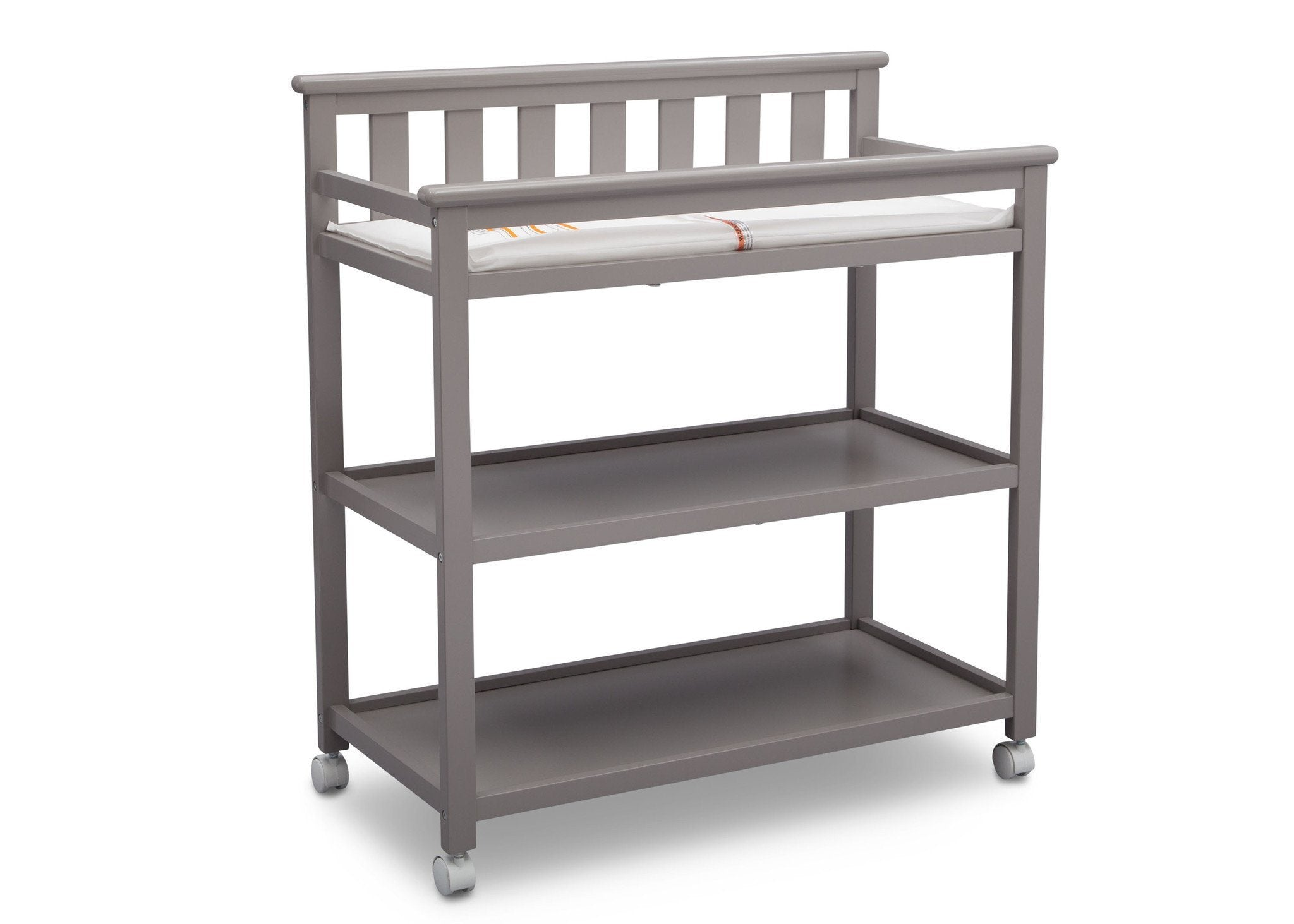 Delta Children Grey (026) Liberty Changing Table Side View a3a
