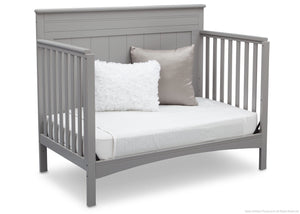 Delta Children Grey (026) Fancy 4-in-1 Crib Side View, Day Bed Conversion b4b