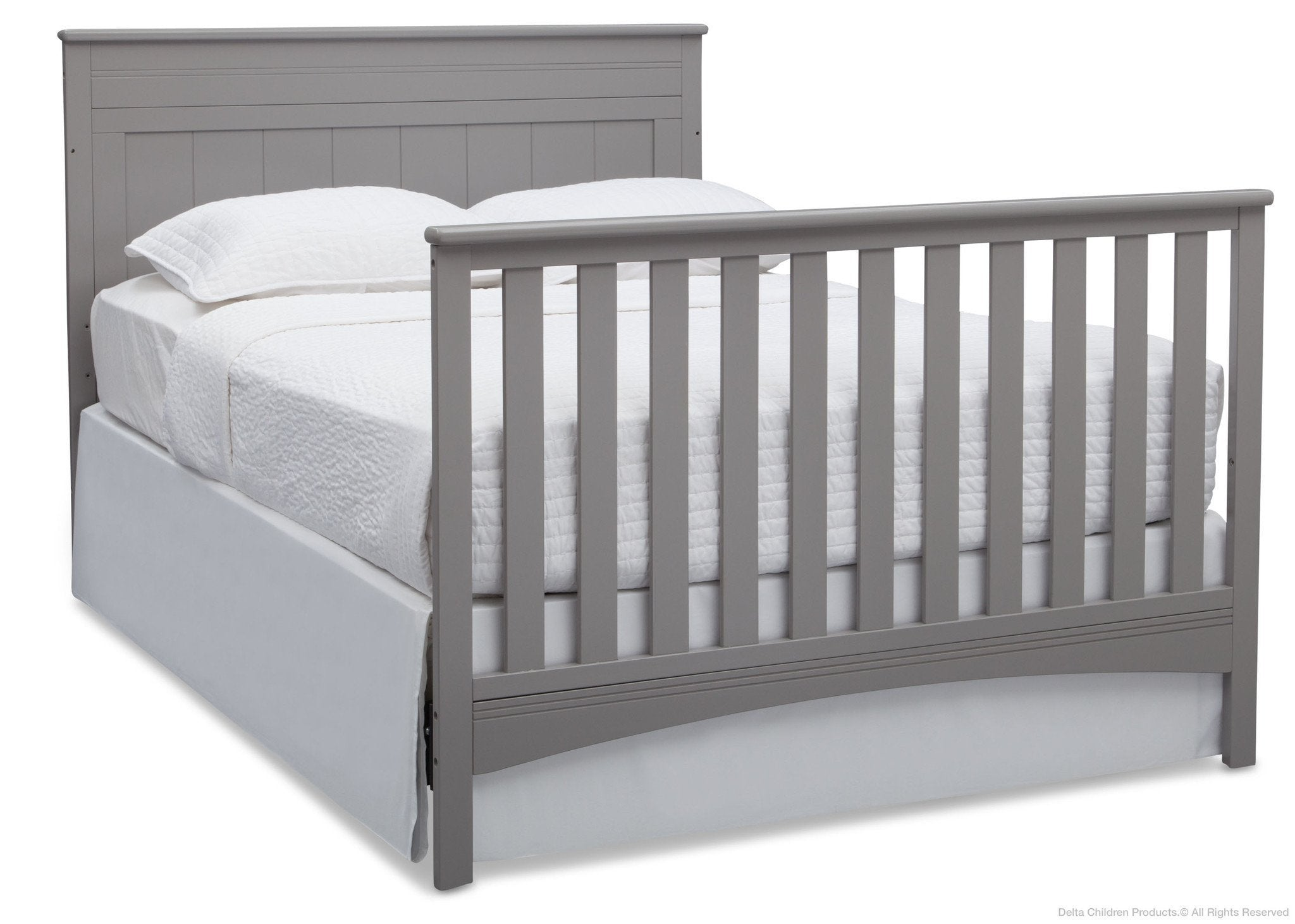 Delta Children Grey (026) Fancy 4-in-1 Crib, Full-Size Bed Conversion b6b