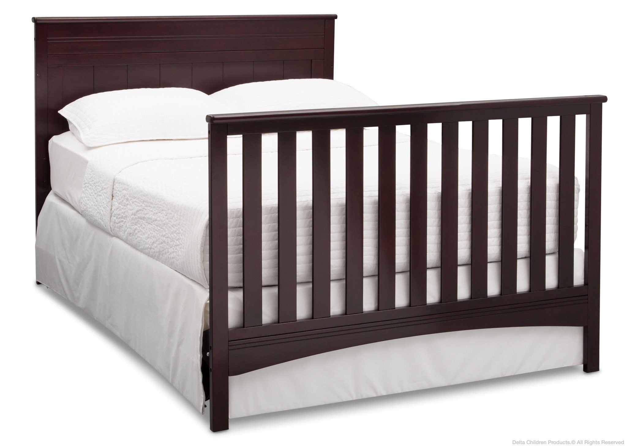Delta Children Dark Chocolate (207) Fancy 4-in-1 Crib, Full-Size Bed Conversion c6c