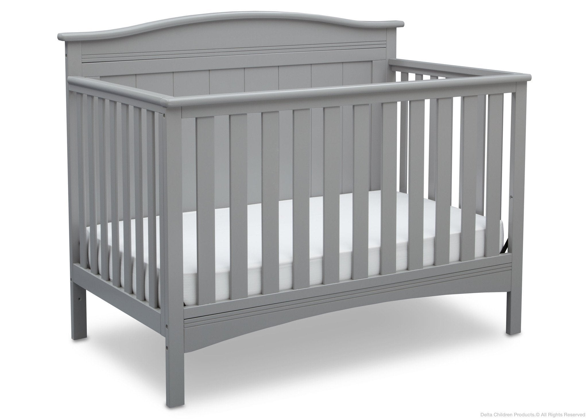 Delta Children Grey (026) Bennett 4-in-1 Crib Side View a3a