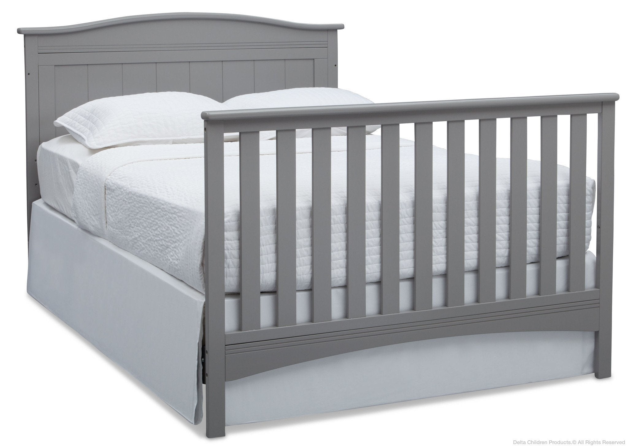 Delta Children Grey (026) Bennett 4-in-1 Crib Full Bed Conversion a6a