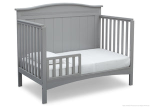 Delta Children Grey (026)  Bennett 4-in-1 Crib Toddler Bed Conversion Side View a4a