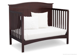 Delta Children Dark Chocolate (207) Bennett 4-in-1 Crib Daybed Conversion Side View c5c