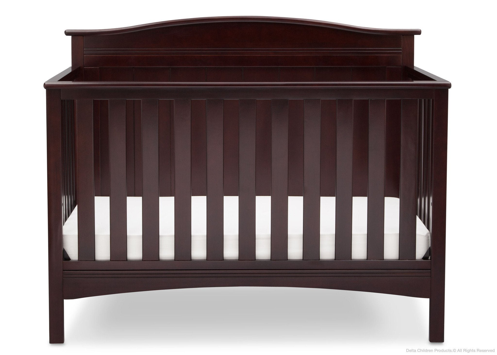 Delta Children Dark Chocolate (207) Bennett 4-in-1 Crib Front View c2c