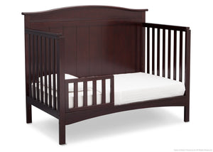 Delta Children Dark Chocolate (207) Bennett 4-in-1 Crib Toddler Bed Conversion Side View c4c