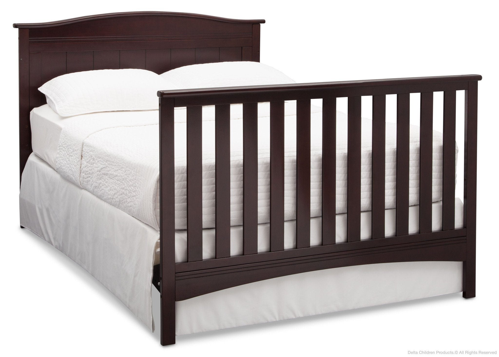 Delta Children Dark Chocolate (207) Bennett 4-in-1 Crib Full Bed Conversion c6c
